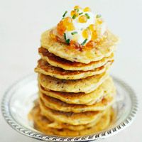 Wild Rice Pancakes with Smoked Trout and Creme Fraiche Recipe | BHG # ...