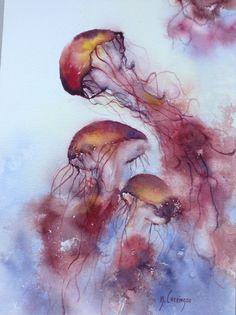 17 Idees De Fonds Marins Aquarelle Aquarelle Marin Fond Marin