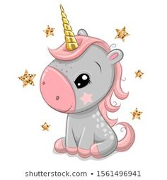 Find Cute Cartoon Unicorn Gold Horn Isolated stock images in HD and millions of other royalty-free stock photos, illustrations and vectors in the Shutterstock collection. Thousands of new, high-quality pictures added every day. Watercolor Unicorn, Unicorn Drawing, Cartoon Unicorn, Unicorn Art, Baby Unicorn, Cute Animal Drawings, Cute Drawings, Unicorn Horn For Horse, Baby Animals