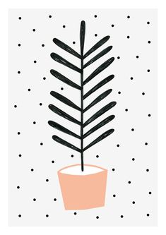 Planta Melocotón print 8 x 11.5 A4 by Depeapa door depeapa