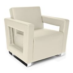 This all new Distinct series cream lounge chair by OFM is on sale today at OfficeAnything.com for only $378.30 while supplies last! #NewLoungeFurniture #LoungeFurniture