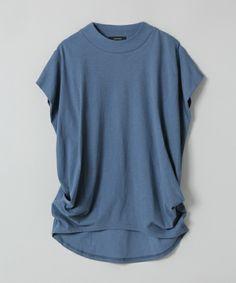 JEANASIS(ジーナシス)のリブネックプルオーバーSS/729146(Tシャツ/カットソー)|ブルー