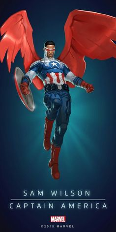 "muse-and-musings: ""Sam Wilson Falcon Captain America """