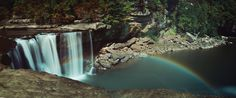 A moonbow at Cumberland Falls.