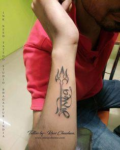 jai mahadev, jai mahakal, mahakal tattoo, trishul with mahadev, mahadev with trishul, ink need tattoo,ravi chauhan Bird Tattoos Arm, Yoga Tattoos, Arm Tattoo, Girl Tattoos, Tattoos For Guys, Tatoos, Type Tattoo, Tattoo Fonts, Tattoo Quotes