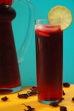 My favorite drink in Mexico, agua de jamaica.