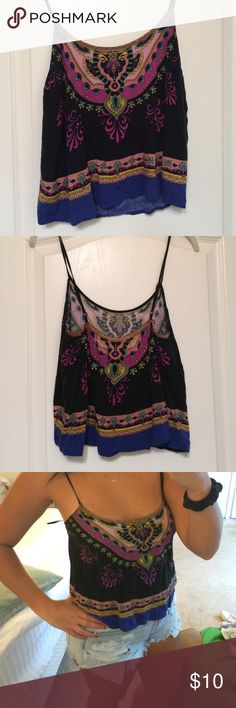 Festival Tank Top Brand: Flying Tomato. Barely worn! Great condition! Size Large. Great pattern!!! Flying Tomato Tops Tank Tops
