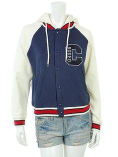 RODEOCROWNS Varsity hooded sweat jacket