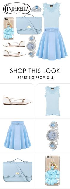 """Cinderella  L💙VE"" by justqueen ❤ liked on Polyvore featuring Truth or Dare, Rosemunde, WithChic, Disney, The Cambridge Satchel Company, Casetify, is, shoes, cinderella and my"