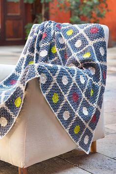 "Nordic inspiration crochet blanket - ""Britta"" pattern I   Anabelia Craft Design    #Anabelia #crochet #blanket"