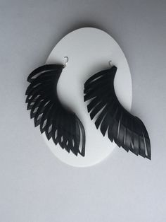 beautiful elegant earings from recycled innertube.  also available from urbanchicjewellery.weebly.com