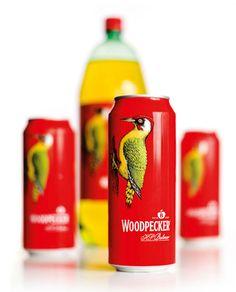 woodpecker cider packaging. via: lovelypackage