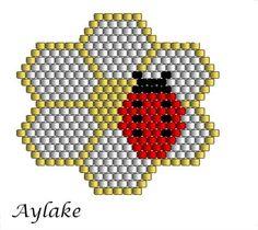 """Bracelet """"Ladybirds and berry blossoms"""" #aylake #bracelet #peyote #ladybug"""