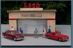 les Garages, stations service et parking au 1/43 ème Depreux, NIL, Kad, Carrarama, mgf; rossignol; atomic; catalogue
