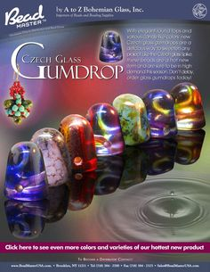 Czech Glass Gumdrops! These are cool!