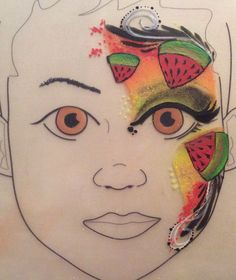 Melon facepaint