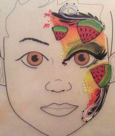 Melon facepaint