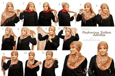 This website has over 20 creative ways to wear hijab....great for us all...but also for new muslims and us fashionista.....one pin but so much more