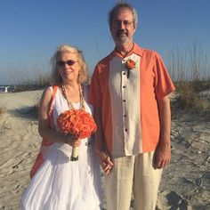 CONGRATULATIONS Tom and Jackie!!! Finally tied the knot after 26 years together! #stephenpalmerweddings #tybeeisland #beachwedding