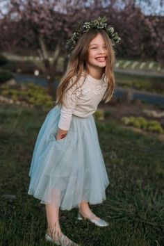 Flower Girl Tulle Skirt and Sweater by Jenny Yoo