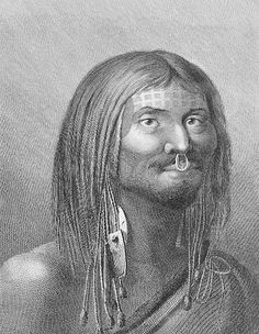 Nootka Canadian Native Indian Tribal Face Tattoo  Credit: Library and Archives Canada, Acc. No. 1991-265-121 Artist: Webber, John, 1751-1793. 1780-1784