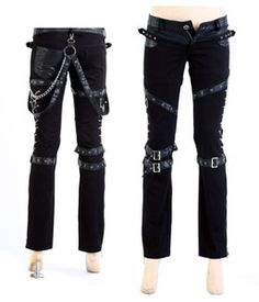 Free Shipping Visual Kei Rock Goth Kera Rock Punk Rave Pants Trousers s 2XL | eBay