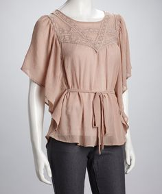 Take a look at this Blu Pepper Dusty Rose Ruffle Top on zulily today!