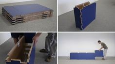 TapeFlips portable expo cardboard stand for kyup - assembly