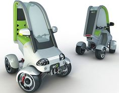 Eco Cars: Electric Urban Quad Bike concept for green highways