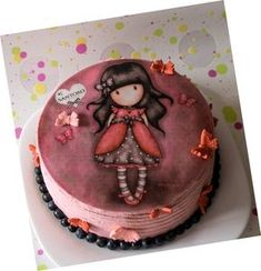 Tarta Gorjuss | El blog de Lucía Cap Cake, Maila, Cake Board, Girl Cakes, Fondant Cakes, Cupcake Cookies, Cakes And More, Let Them Eat Cake, Yummy Cakes