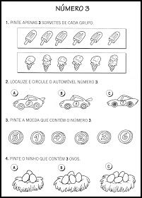 O Mundo da Alfabetização: Atividades com números - 0 a 9 Kindergarten Worksheets, Activities For Kids, Math For Kids, Homeschool, Diagram, Learning, 1, Craft, Class Activities