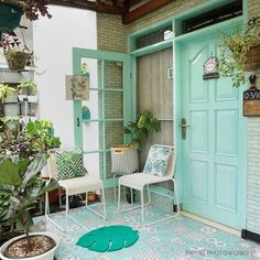 Minimalist House Design, Minimalist Home, Modern House Design, Diy Crafts For Home Decor, Retro Home Decor, Turquoise Cottage, Relaxation Room, Relax Room, Door Gate Design