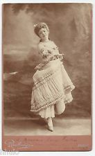 C731 Carte Cabinet Card Photo vintage danseuse Reutlinger Grand format Signé