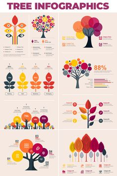 Tree Bundle - Infographic Elements #InfographicElements #Bundle #Tree #Elements