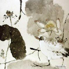 Master Hong Yi Zen painting appreciate - Unemployment Hunter - Hunter's blog unemployment Zen Painting, China Painting, Japanese Painting, Japanese Art, Art Chinois, Lotus Art, Chinese Art, Chinese Brush, Asian Art
