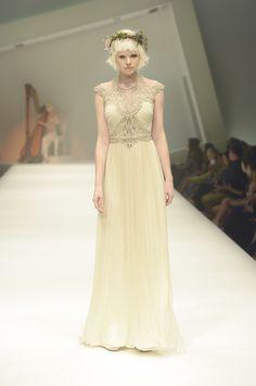Gwendolynne 'Lilly' Wedding Dress - MSFW - Hair by Kevin Murphy, Make up by Mecca Cosmetica, Fresh floral wreath by Flower Flower