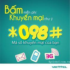 Cách sử dụng cú pháp tra cứu khuyến mãi *098# Viettel