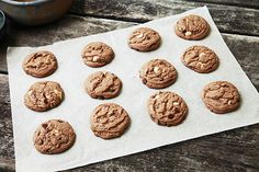 Tasty Kitchen Blog: Hot Chocolate Triple Chocolate Chip Cookies. Guest post by Alice Currah of Savory Sweet Life, recipe submitted by TK member Alison Anderson (elimaxandlela).