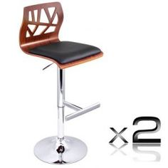2 X Wooden Bar Stool Padded Seat Black Designed to blend in with any environment, our bar stool serves the purpose of providing seating comfort along with a neat, simple design. The immaculate bar stool speaks for itself regardless of … Continued Outdoor Bar Stools, Wooden Bar Stools, Leather Bar Stools, Swivel Bar Stools, Breakfast Bar Stools, Black Cushions, Online Furniture Stores, Kitchen Chairs, Kitchen Dining