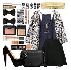 """""""Untitled #68"""" by fashion-n-o-w ❤ liked on Polyvore featuring H&M, Avelon, MICHAEL Michael Kors, Christian Louboutin, CellPowerCases, NARS Cosmetics, Forever 21, Urban Decay, Guerlain and Givenchy"""