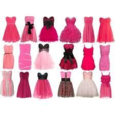 Pink Fir Teenagers in Dresses