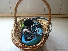 Basket with ear plug