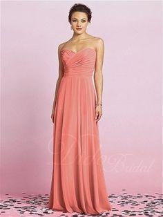 A-line Chiffon Pleated Sweetheart Bridesmaid Dress - Didobridal