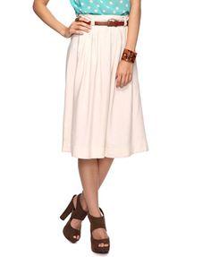 Swap belt out on my already paperbag waisted skirt. Pleated Skirt w/ Belt | FOREVER21 - 2086806597