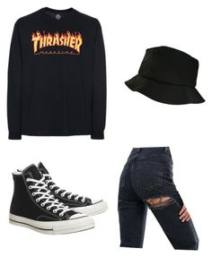 """Baddie"" by rand0mgirl1230 on Polyvore featuring ASOS and Converse"