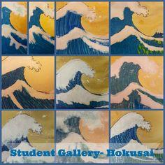 Make Waves Like Hokusai Student Gallery | Harrington Harmonies