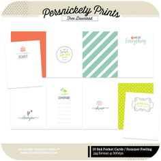 Quality DigiScrap Freebies: Summer Feeling journal cards freebie from Persnickety Prints