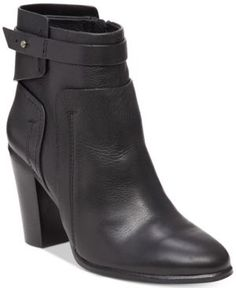Vince Camuto Faythe Layered Booties - Black 7M