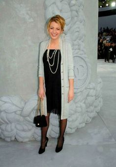 Chanel Spring 2006 RTW Cardigan Chanel Bag. Blake Lively Chanel Haute Couture Show January 22 2008.