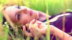 Beautiful Girl Lying On The Meadow And Dreaming. Enjoy Nature. Close Up Slow Motion Footage Stock Footage Video 4170274 - Shutterstock
